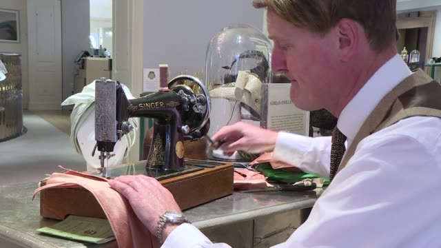 its all hands to the wheel for fortnum and mason in house milliner adrian phillip howard as he puts the final touches to a range of unique and... - shock tactics stock videos & royalty-free footage