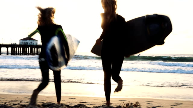 it's always a good day to surf here in california - surfboard stock videos and b-roll footage