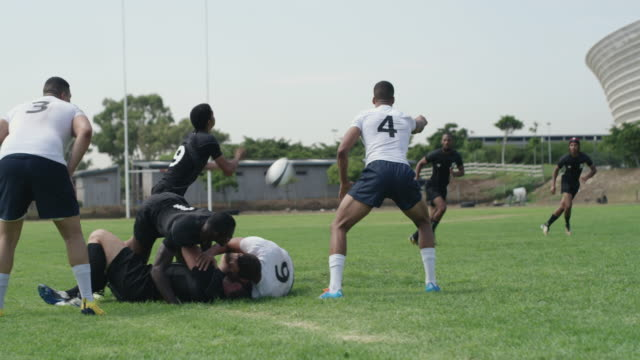 it's an exhilarating game - rugby stock videos & royalty-free footage