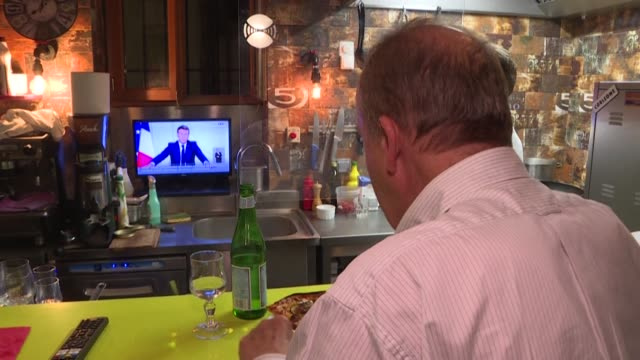 """it's annoying but we don't have much choice,"""" say customers in strasbourg bars and restaurants, after french president emmanuel macron announced a... - thursday stock videos & royalty-free footage"""