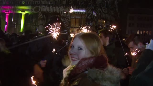 it's been a year since cologne's now infamous new year's eve when a wave of sexual assaults by migrant men horrified germany - infamous stock videos & royalty-free footage