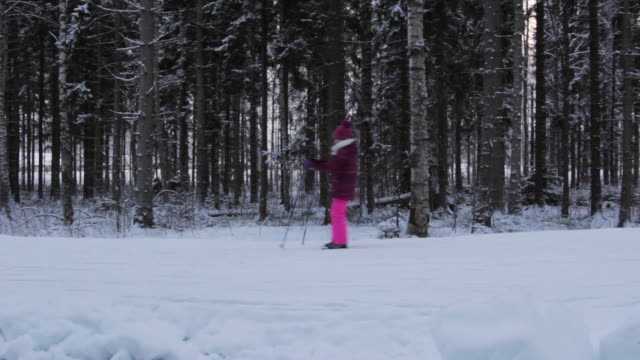 it's cold outside - cross-country ski - ski clothing stock videos and b-roll footage