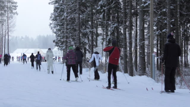 stockvideo's en b-roll-footage met it's cold outside - cross-country ski - finland