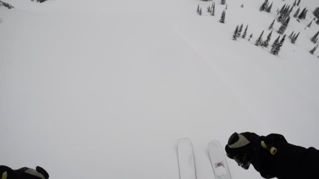 stockvideo's en b-roll-footage met it's cold outside - skiing in backcountry of the rocky mountains - 4k - montana westelijke verenigde staten