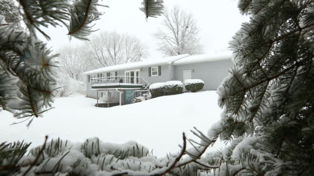 it's cold outside -snowing - ranch house stock videos & royalty-free footage