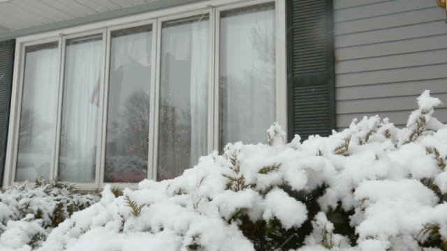it's cold outside - snowing - ranch house stock videos & royalty-free footage