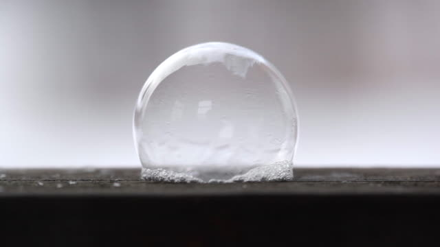 it's cold outside - soap bubble crystallising - frozen water stock videos & royalty-free footage