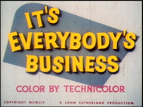 it's everybody's business - 1 of 19 - anno 1954 video stock e b–roll