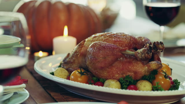 it's everyone's favorite! - thanksgiving plate stock videos & royalty-free footage