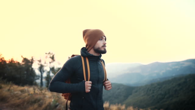 it's healthy to walk - rucksack stock videos & royalty-free footage