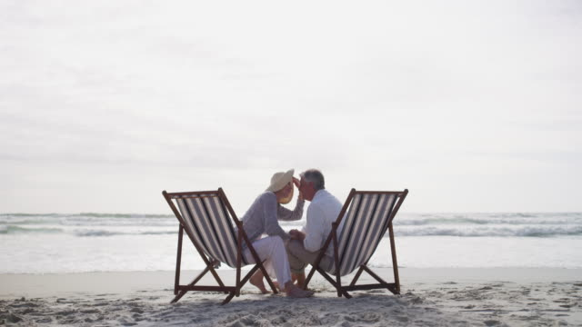 it's never too late for a renewed romance - outdoor chair stock videos & royalty-free footage