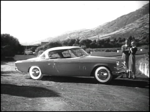 it's new it's for you it's your dream car come true the narrator says this tv commercial is for the iconic 1953 raymond loewydesigned studebaker... - narrating stock videos & royalty-free footage