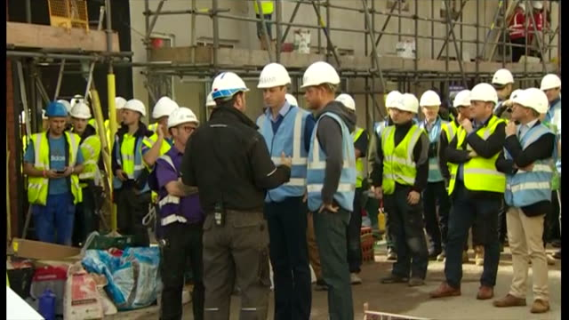 It's not something they're likely to have to do at home but Princes William and Harry have been turning their hands to a spot of DIY The Royal...