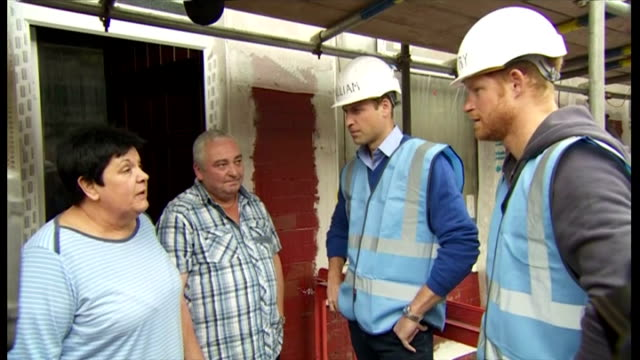 it's not something they're likely to have to do at home, but princes william and harry have been turning their hands to a spot of diy. the royal... - diy stock videos & royalty-free footage