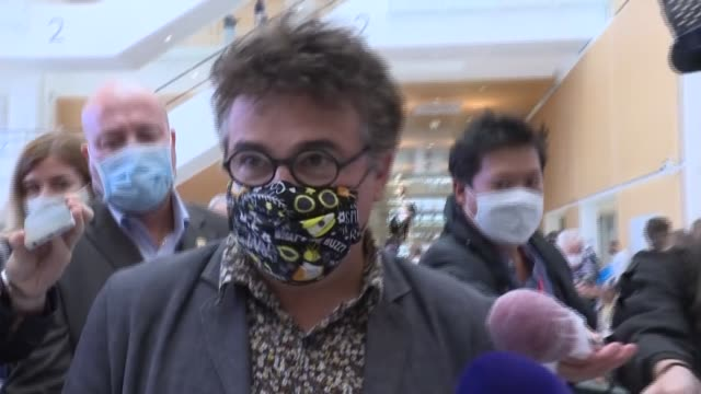 """it's time for justice, it's time for justice to do its job, it must be respected,"""" said er doctor patrick pelloux, a former member of charlie hebdo's... - editorial stock videos & royalty-free footage"""