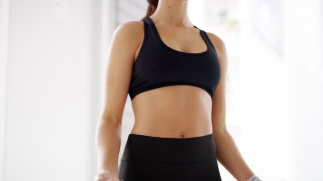 it's time to tone it up - sports bra stock videos & royalty-free footage