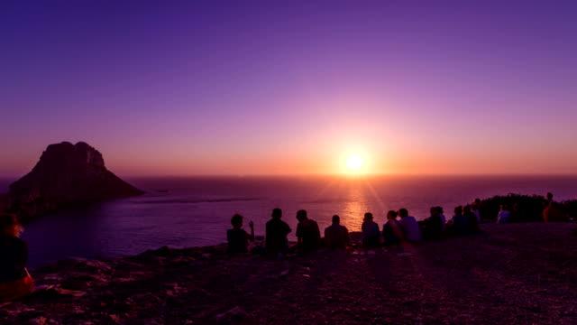es vedra 夕日 - イビサ島点の映像素材/bロール