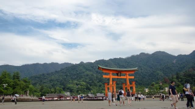 itsukushima shrine. - randoseru stock videos & royalty-free footage