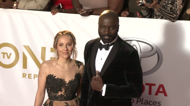 iva colter and mike colter at the 49th naacp image awards at pasadena civic auditorium on january 15, 2018 in pasadena, california. - pasadena civic auditorium stock videos & royalty-free footage