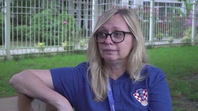 vídeos y material grabado en eventos de stock de iva olivari es la mujer mas poderosa del futbol croata - iva