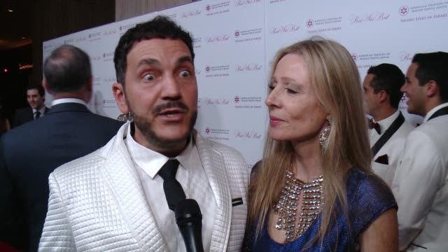INTERVIEW Ivan Bitton at on being at the event on the AFMDA American Friends Of Magen David Adom's Red Star Ball at The Beverly Hilton Hotel on...