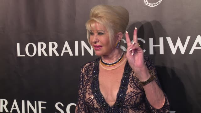 ivana trump at angel ball 2017 at cipriani wall street on october 23 2017 in new york city - cipriani manhattan stock videos & royalty-free footage