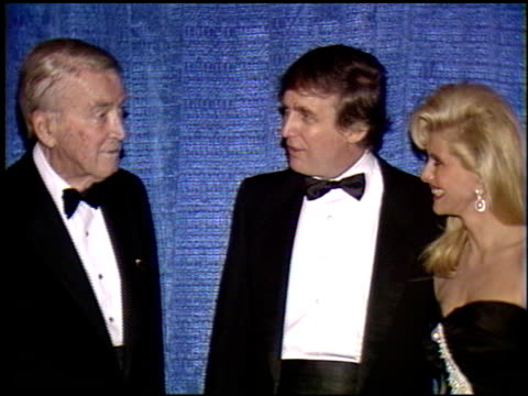 ivana trump at the scopus awards 1990 at the beverly hilton in beverly hills, california on january 14, 1990. - anno 1990 video stock e b–roll