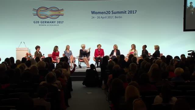 ivanka trump present at the womens20 summit in berlin 2017 - femininity stock videos & royalty-free footage
