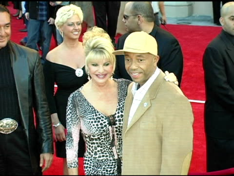 ivanna trump and russell simmons at the 2004 american music awards red carpet at the shrine auditorium in los angeles, california on november 14,... - russell simmons stock videos & royalty-free footage
