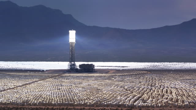 ivanpah csp plant, california - drone shot - power supply stock videos & royalty-free footage
