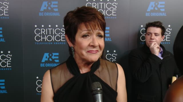"""ivonne coll on being at the event, and on her show """"jane the virgin"""" at the 2015 critics' choice television awards at the beverly hilton hotel on may... - 放送テレビ批評家協会賞点の映像素材/bロール"""