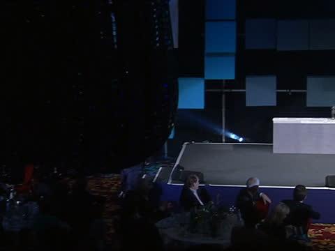 ivor novello awards 2006: arrivals / interviews / awards ceremony; england: london: ivor novello awards: int james blunt, amanda ghost and... - award stock-videos und b-roll-filmmaterial