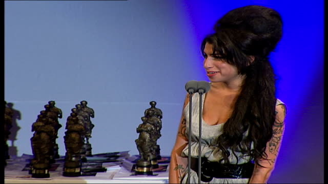 Ivor Novello Awards Amy Winehouse accepting award SOT Thank you very much / I didn't even have time to get drunk / I've only been here about 15...