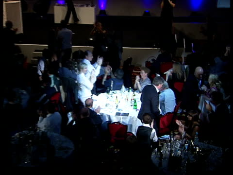 ivor novello awards ceremony general views and speeches; george fenton along to stage as receiving the academy fellowship 2007 - film award type stock videos & royalty-free footage