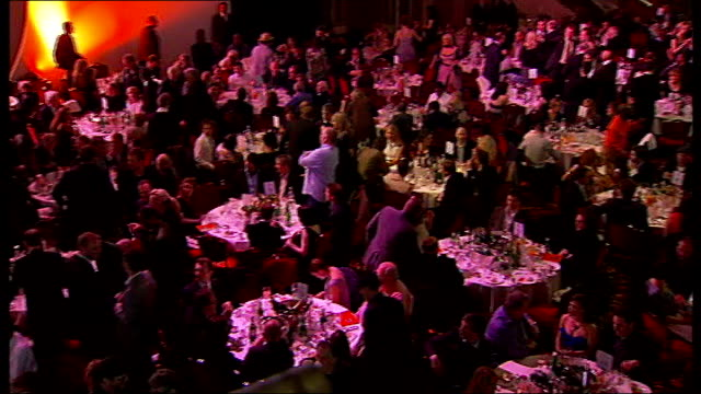 london ivor novello awards int **music overlay coldplay viva la vida** guests seated at tables at ivor novello awards ceremony duffy in audience... - vida no mar stock videos & royalty-free footage