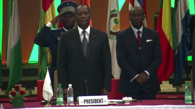 ivorian president alassane ouattara on saturday called for a broader international commitment to the military operations in mali where malian and... - militant groups stock videos and b-roll footage