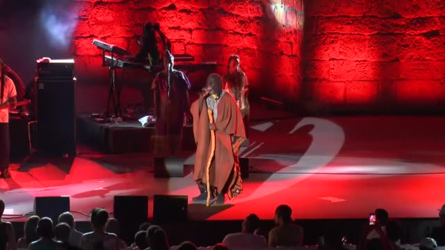 Ivorian reggae singer Tiken Jah Fakoly performs at the 52 annual the Carthage International Festival at the Roman Theatre of Carthage near Tunis...