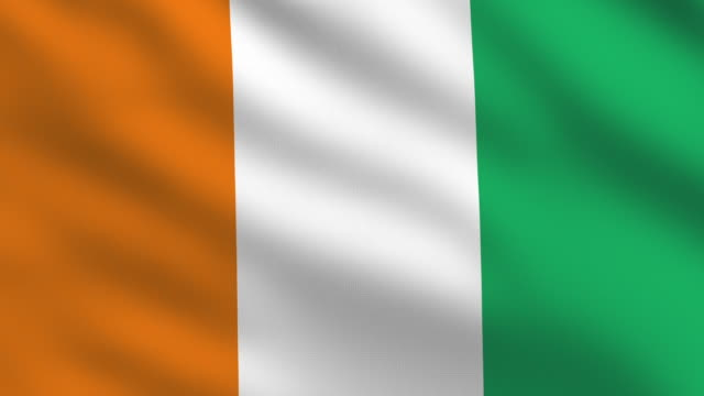 ivory coast flag - côte d'ivoire stock videos & royalty-free footage