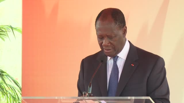 ivory coast president alassane ouattara says the sharp drop in cocoa prices on the international market has affected the economy of ivory coast the... - côte d'ivoire stock videos & royalty-free footage