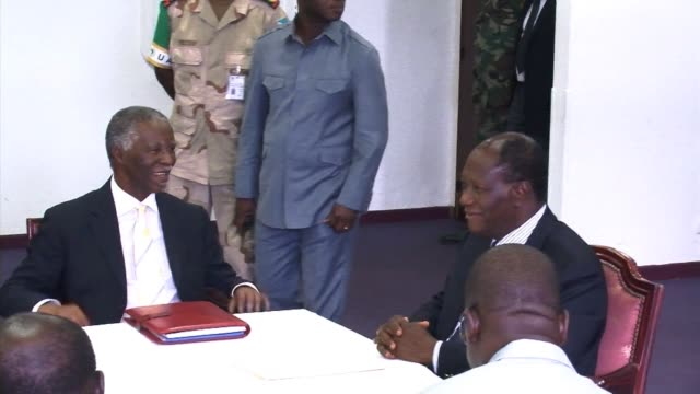 ivory coast was in political turmoil monday as rivals challenging laurent gbagbo's claim to the presidency declared they had formed a new government,... - côte d'ivoire stock videos & royalty-free footage