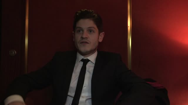 vídeos de stock, filmes e b-roll de iwan rheon on the subject of the film and how welsh people would really react to nazi occupation at the resistance uk premiere at london england - entertainment occupation