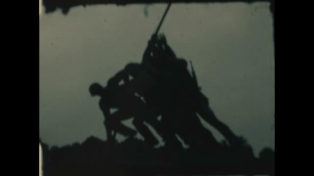 iwo jima memorial at arlington national cemetery. - war stock-videos und b-roll-filmmaterial