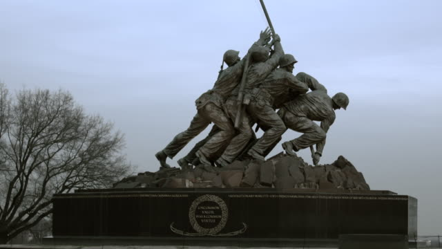 iwo jima memorial - arlington national cemetery stock videos and b-roll footage