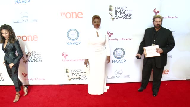 stockvideo's en b-roll-footage met iyanla vanzant at the 46th annual naacp image awards arrivals at pasadena civic auditorium on february 06 2015 in pasadena california - pasadena civic auditorium
