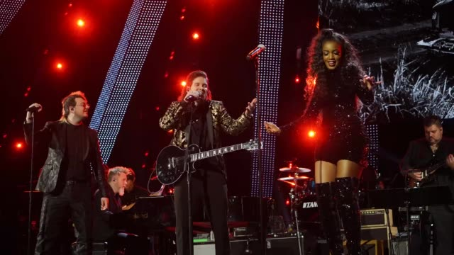 iza performs with juan david m. castano and piso 21 onstage at the person of the year gala honoring mana during the 19th annual latin grammy awards... - latin grammy awards stock videos & royalty-free footage