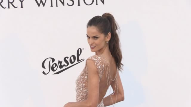 Izabel Goulart and Zuhair Murad on the red carpet at the amfAR Gala during the Cannes Film Festival 2017 Thursday 25 May 2017 Cannes France