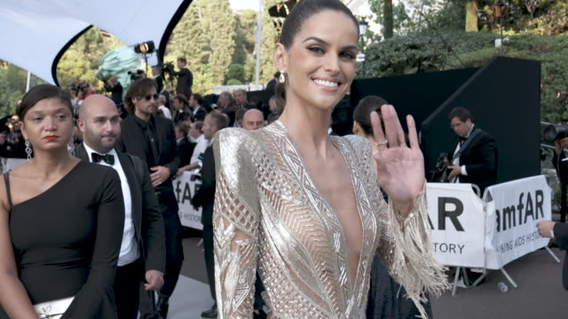 slomo izabel goulart at amfar cannes gala 2019 arrivals at hotel du capedenroc on may 23 2019 in cap d'antibes france - amfar stock videos & royalty-free footage