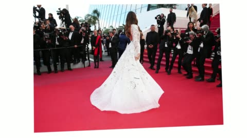 stockvideo's en b-roll-footage met izabel goulart spins around showing off her dress at the 'sink or swim ' red carpet during the 71st cannes film festival on may 8, 2018 in cannes,... - internationaal filmfestival van cannes