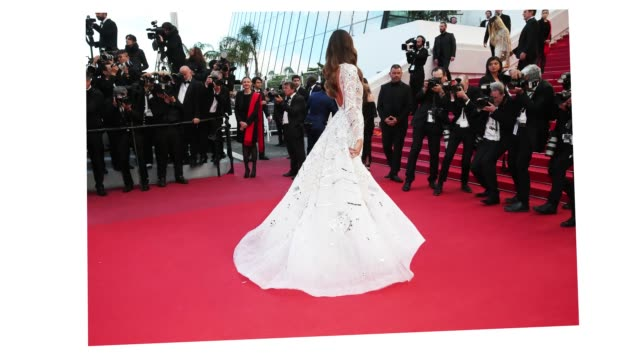 izabel goulart spins around showing off her dress at the 'sink or swim ' red carpet during the 71st cannes film festival on may 8 2018 in cannes... - cannes stock videos & royalty-free footage