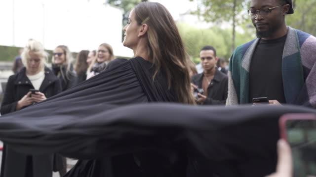 izabel goulart wearing valentino dress outside valentino during paris fashion week womenswear spring summer 2020 on september 29, 2019 in paris,... - izabel goulart stock videos & royalty-free footage